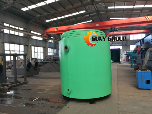 Carbonization furnace packing and delivery site