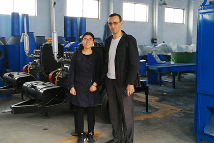 Algeria Customer Inspect Charcoal Making Machine