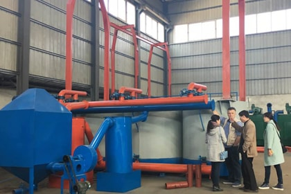 Danish Customer Inspection The Carbonization Furnace