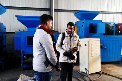 India Customer Inspect Ball Pressing Machine