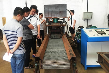Indonesian Customers Inspect Carbonization Equipment