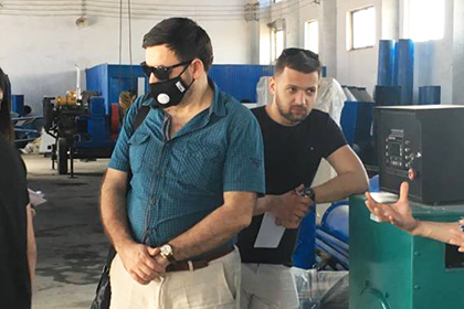 Iran Customer Inspect Charcoal Making Equipment