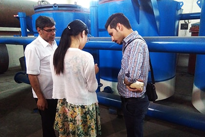Iran Customers Inspect Charcoal Equipments